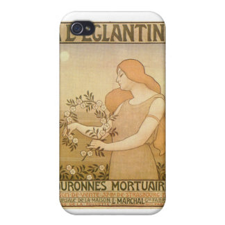 French Elegant ad Poster iPhone 4/4S Case