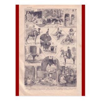 French Encyclopedia 1920, Algeria Postcard