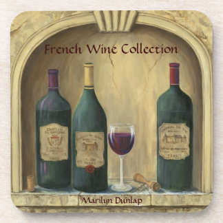 French Estate Wine Collection Drink Coaster