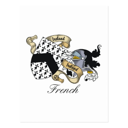 French Family Crest Postcard