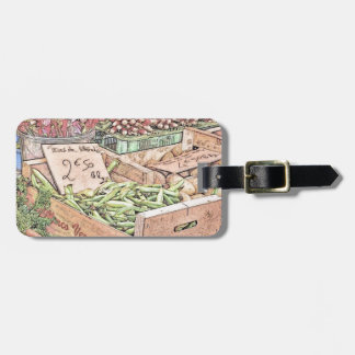 French Farmers Market Luggage Tag