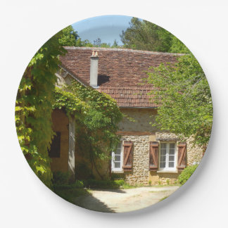 French Farmhouse and Gite Paper Plate