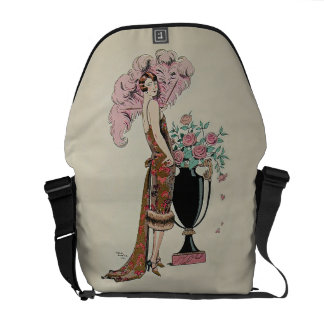 French Fashion Plate Early 1900's Georges Barbier Messenger Bag