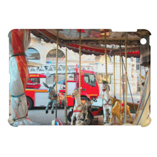 French Fire truck in the marketplace 4 iPad Mini Covers
