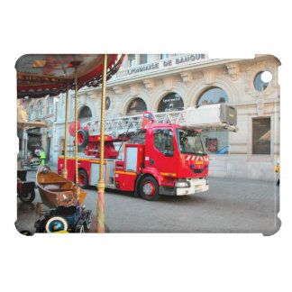 French Fire truck in the marketplace iPad Mini Case