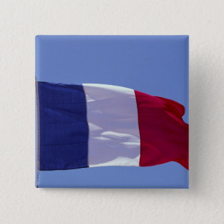 French flag 15 cm square badge