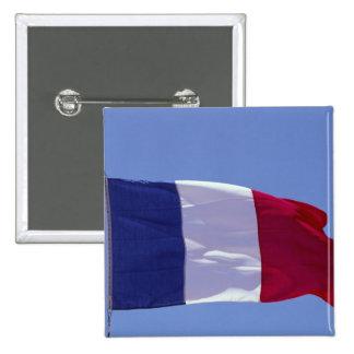 French flag 15 cm square badge