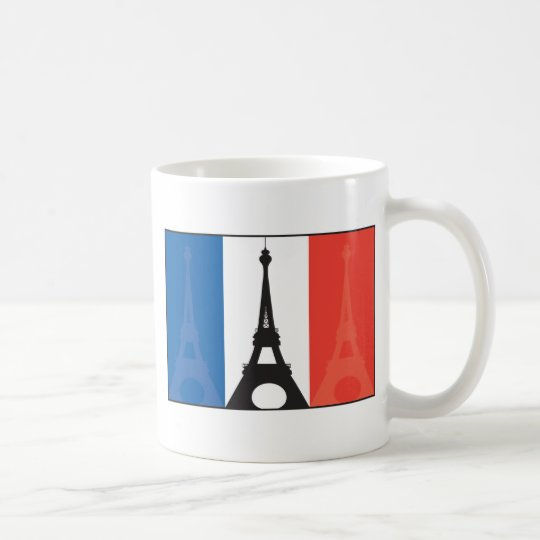 French Flag and Eiffel Tower Coffee Mug