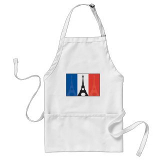 French Flag and Eiffel Tower Standard Apron
