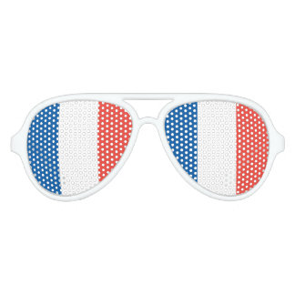 French Flag Aviator Sunglasses