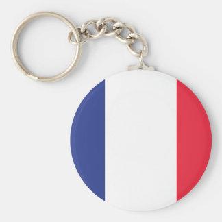 French Flag Basic Round Button Key Ring