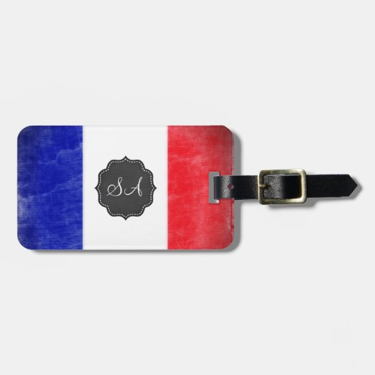French flag Customisable Travel Luggage Tag