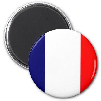 French Flag Design - OUI ! 6 Cm Round Magnet