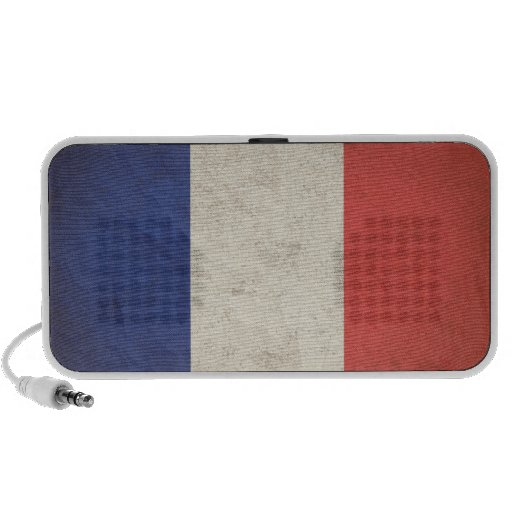 French Flag Distressed iPod Speaker