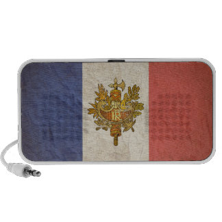 French Flag Distressed Portable Speakers