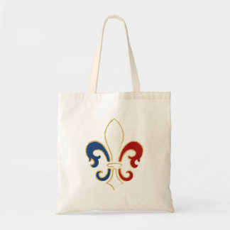 French Flag Fleur de Lis with Gold Budget Tote Bag