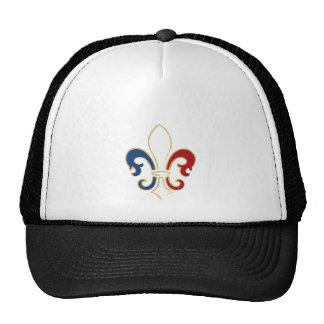 French Flag Fleur de Lis with Gold Cap