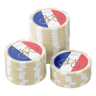 French Flag France Bike Bicycle Cycling Cyclist Poker Chips