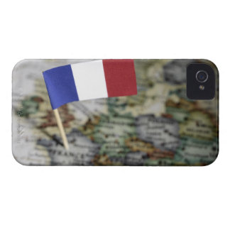 French flag in map iPhone 4 Case-Mate case
