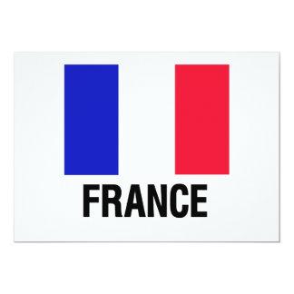 French Flag 13 Cm X 18 Cm Invitation Card