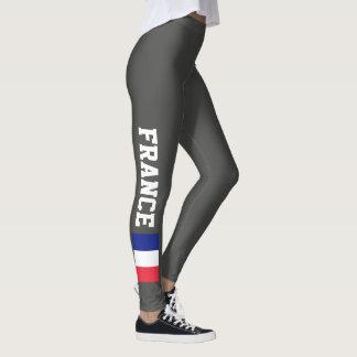French flag leggings for sport fitness yoga