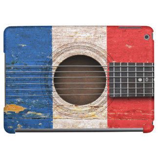 French Flag on Old Acoustic Guitar iPad Air Cases