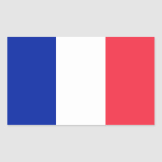 French Flag Rectangular Sticker