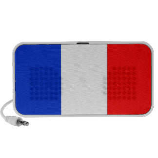 French Flag, red white and blue laptop speakers