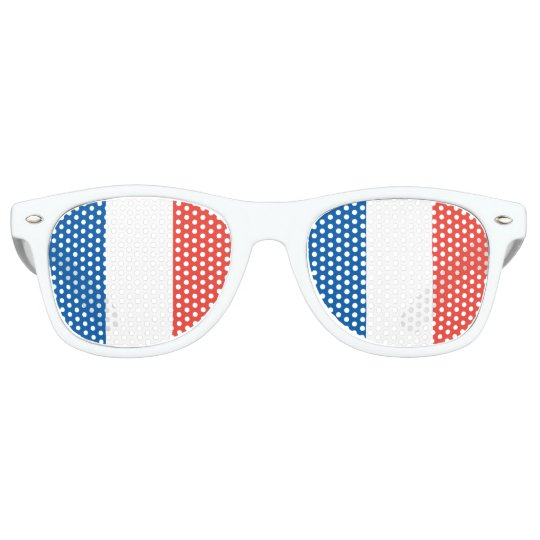 French Flag Retro Sunglasses