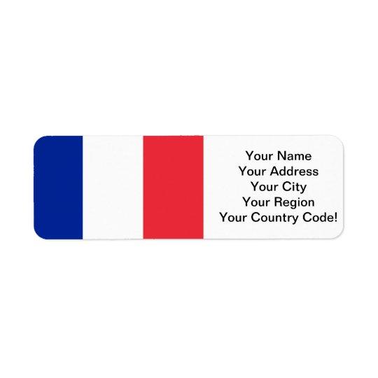 French Flag Return Address Label