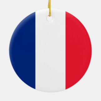 French Flag Round Ceramic Decoration