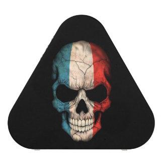 French Flag Skull on Black