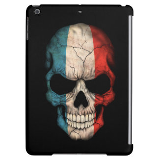 French Flag Skull on Black Cover For iPad Air