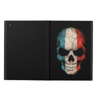 French Flag Skull on Black iPad Air Cover