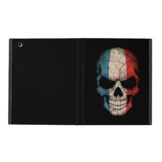 French Flag Skull on Black iPad Case