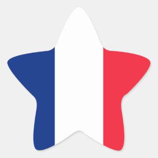 French Flag Star Sticker