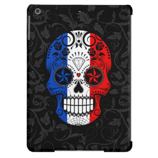 French Flag Sugar Skull with Roses Case For iPad Air