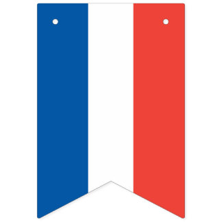 French Flag: Tricolor Bastille Day Party Banner
