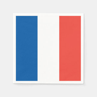French Flag: Tricolor Bastille Day Party Banner Paper Napkin