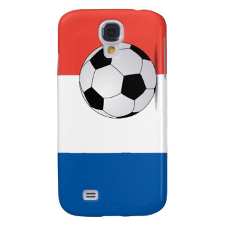 French Flag with Soccer Ball  Galaxy S4 Case