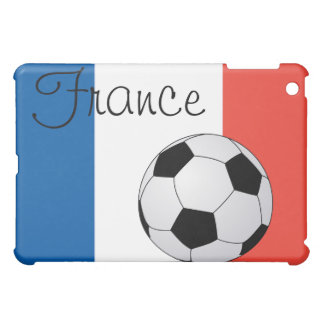 French Flag with Soccer Ball  Case For The iPad Mini