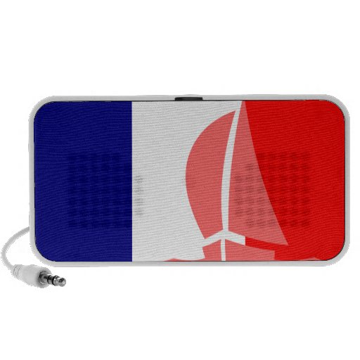 French Flag Yacht Sailing Nautical France Travelling Speakers