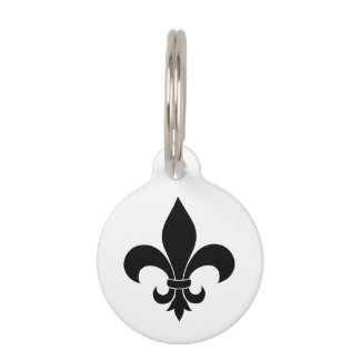 French fleur de lis Pattern Parisian Design Pet ID Tag