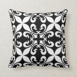 French Fleur de Lys Pattern Customisable Colour Cushion