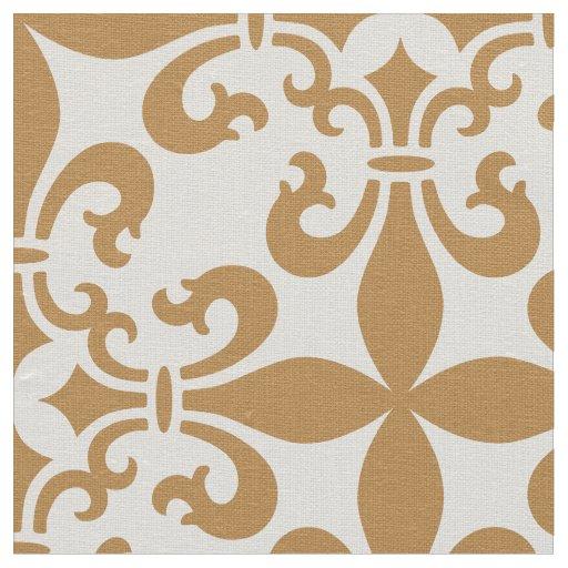 French Fleur de Lys Pattern Customisable Colour Fabric
