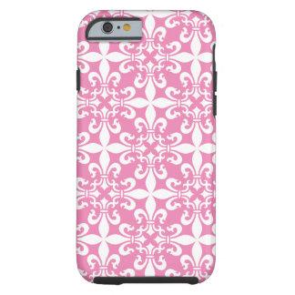 French Fleur de Lys Pattern Customizable Color Tough iPhone 6 Case