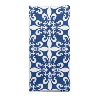 French Fleur de Lys Pattern Royal Blue Napkin