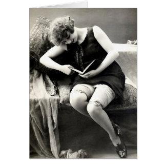 French Flirt -  Hosiery Pinup Girl Card