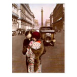 French Flirt - Romantic Postcard Vintage Love