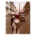 French Flirt - Romantic Vintage Love Postcard